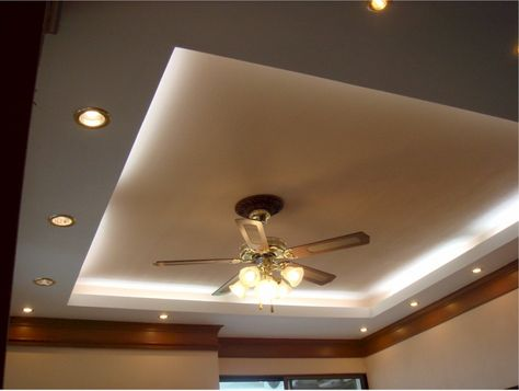 Cove Lighting With Recessed Setup And Cly Ceiling Fan Lamp For Modern Bedroom Ideas