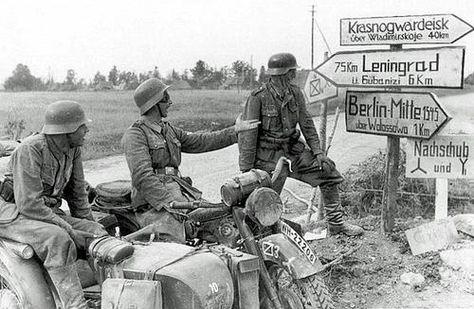 German Forces Road Signs World War War Photography War