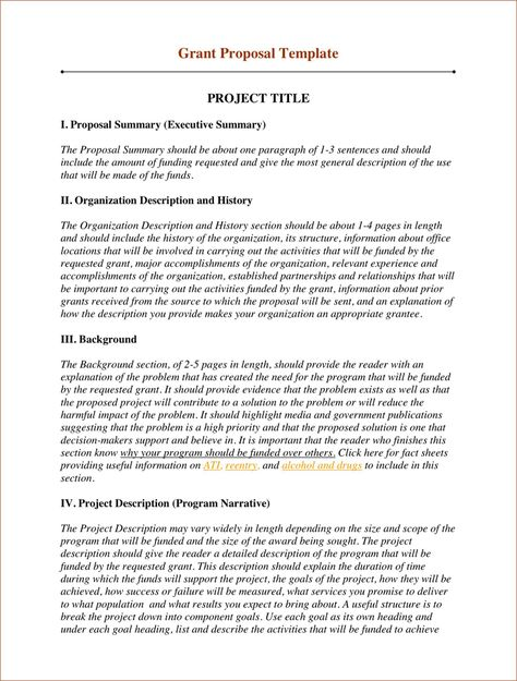 GrantSpaceu0027s collection of free, downloadable sample grant - funding proposal template