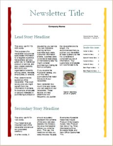 Business Newsletter  Column  Pages Download At HttpWwwDoxhub