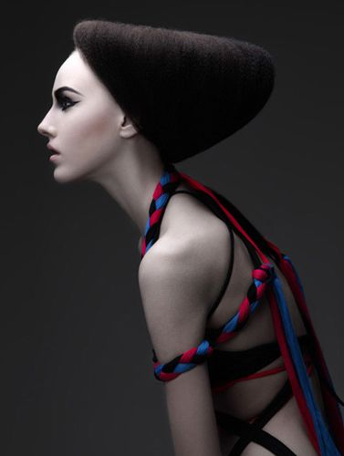 Beautiful styling with creative hair and rope work. Sun by Kattaca , via Behance