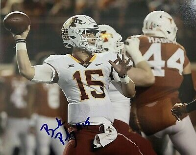 Ad Ebay Link Brock Purdy Hand Signed 8x10 Photo Iowa State