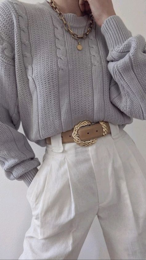 Vintage Knit Sweater Outfit