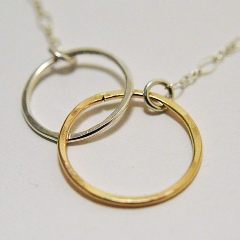 Image of Inter Locking Pendant Mixed Double Ring