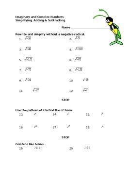 Complex Numbers Worksheet 2019 Complex Numbers Number Worksheets Number Patterns Worksheets