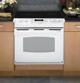 Ge Ps968tpww 30 White Slide In Electric Convection Range Nib 6917 Drop In Electric Range Convection Range Electric Range