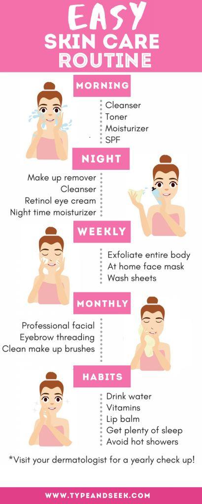 Easy Skin Care Routine That Works Wonders! - Type and Seek
