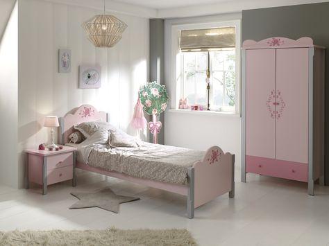 Chambre 3 Pieces Gris Et Rose Girly Chambres Enfants Pinterest