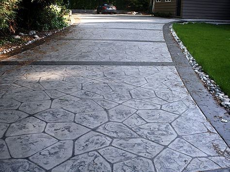 Stamped Concrete Patterns Design Ideas Area Rugs Can Alter The Design Great In Every Stamped Concrete Driveway Stamped Concrete Decorative Concrete Driveways