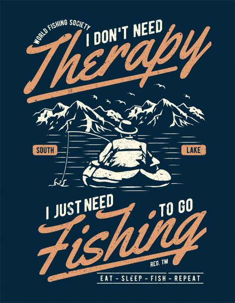 Fishing therapy Vector   Premium Download