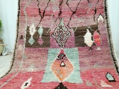 Moroccan Vintage Tribal Boujad Handmade Rug 4 2x5 7 Abstract Berber Wool Red Rug Ebay Tribal Geometric Braided Area Rugs Cotton Area Rug