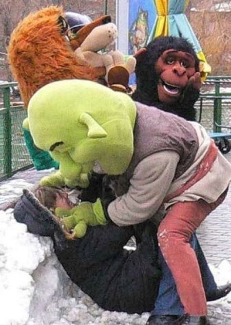 The last time Becky ever talked shit about Fiona at the amusement park.