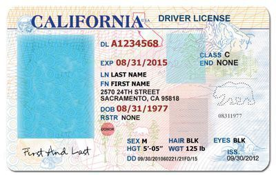 California Drivers License Template Drivers License California Drivers License Ca Drivers License