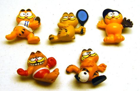 Vintage Garfield Collectible Sport Figurines Lot Boxer by OwlShop, $16.50