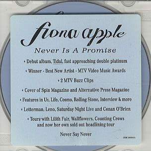 Fiona Apple Never Is A Promise Lyrics Genius Lyrics Music