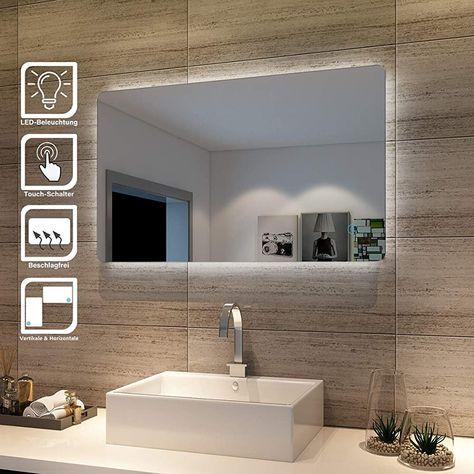 Sonni Badspiegel Lichtspiegel Led Spiegel Wandspiegel Mit Sensor