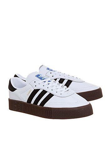 White shoes sneakers, Adidas samba
