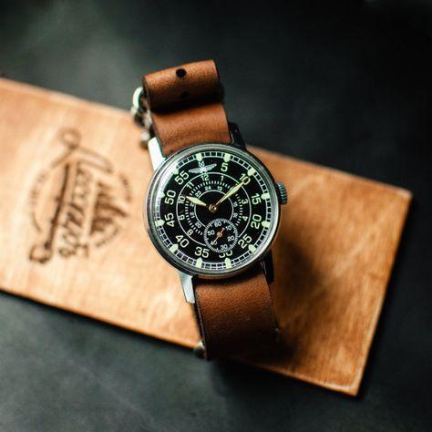"USSR watch ""Aviator"", mechanical wrist watch, military watch, watch vintage, men wristwatch, russian watches"