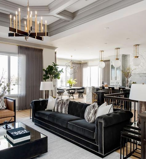 The Gorgeous Modern Living Room Decor with Restoration Trap In the event you require some suggestions to get going, here are five methods to enhance the plan of your living room. Firstly, dining room design is based on the walls. Home Interior, Living Room Interior, Interior Design Living Room, Luxury Interior, Luxury Sofa, Interior Modern, Kitchen Interior, Living Room Grey, Home Living Room