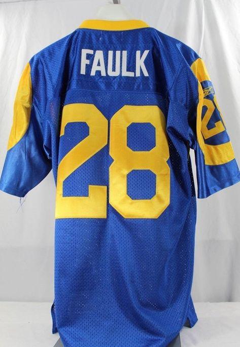St. Louis Rams Marshall Faulk  28 Blue Jersey Mitchell   Ness 50 Throwback   MitchellNess  StLouisRams 81e45fce0