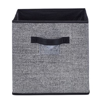 Simplify 12 X 12 Collapsible Storage Box In Black Fabric Bins Fabric Storage Bins Fabric Storage Boxes