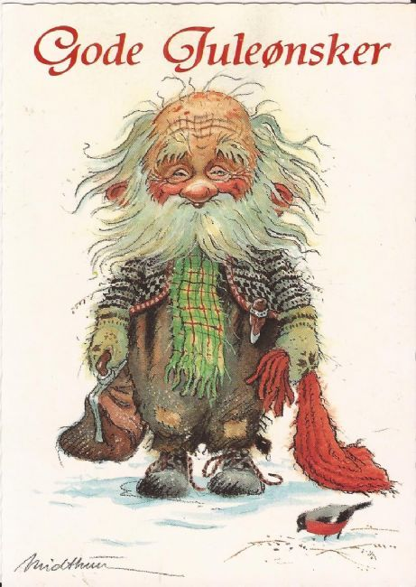 Pin By Anna Willgren On Julkort Fairies Elves Gnomes Scandinavian Christmas