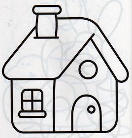 Para Seus Apliques Con Imagenes Dibujo De Casa Dibujos Para