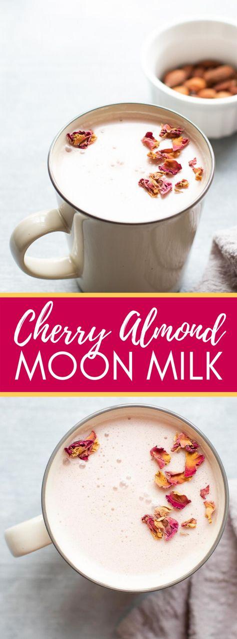 Cherry Almond Moon Milk #drinks #breakfast #moonmilk #milk #smoothie#almond