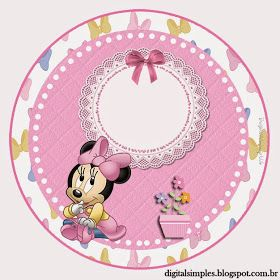 Lovely Minnie Baby Free Printable Candy Bar Labels Topolino