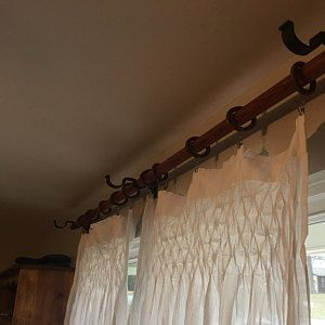 Brian Added A Photo Of Their Purchase Wall Mount Bracket Curtain Rod Brackets Single Curtain Rods
