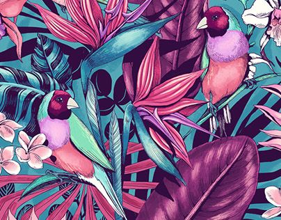 Stand Out - tropical floral pattern