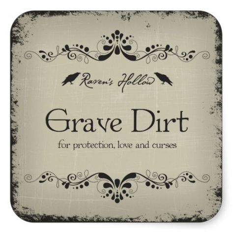 Grave Dirt Halloween Jar Sticker