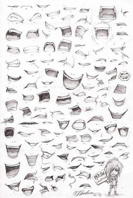 Drawing Tutorial Anime Lips 63 Best Ideas Anime Face Shapes Anime Drawings Anime Lips