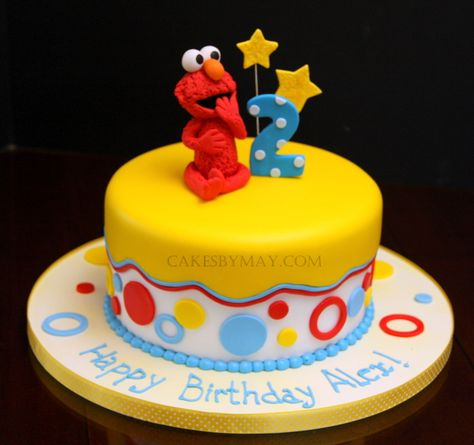 "Gorgeous Elmo cake by ""Cakes by May"""