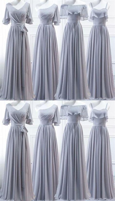 1afc1f53a47 Simple Navy Blue Sleeveless Long Ruffles Chiffon Bridesmaid Dresses