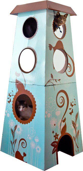 Amazon Com The Refined Feline Catemporary Cat Castle Large Pet Supplies Cat Castle Cardboard Cat House Cool Cat Trees