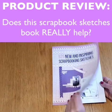 Does This Sketches Book Really Help? One customer says that it's helped her finish a STUNNING layout design in only 15 minutes instead of taking HOURS Visit our site to read the full review here