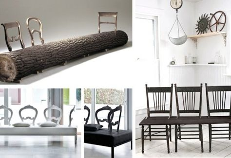 Chair Back Benches - DIY Inspiration
