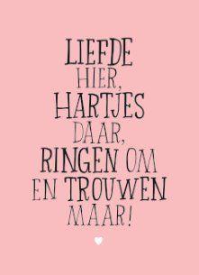 Nieuw Liefde hier hartjes daar, ringen om en trouwen maar! #Hallmark KK-74