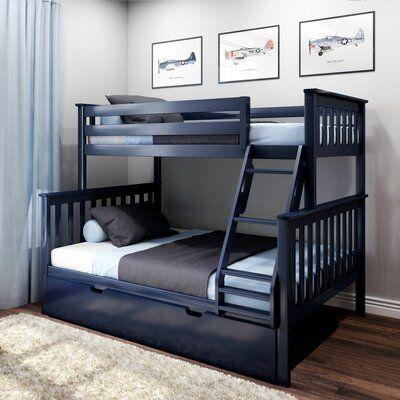 Harriet Bee Juliann Bunk Bed With Trundle In 2020 Bunk Beds With Drawers Twin Bunk Beds Bed With Drawers
