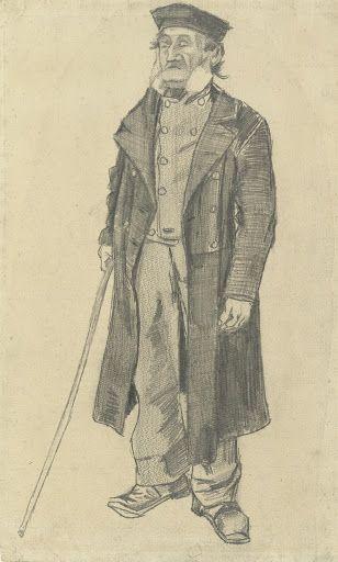 Old Man with a Stick, 1882, Vincent van Gogh, Van Gogh Museum, Amsterdam (Vincent van Gogh Foundation).