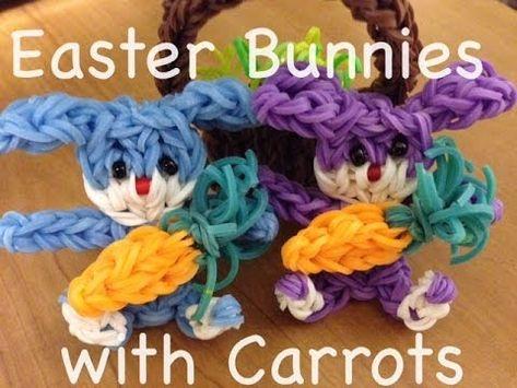 awesome Rainbow loom Easter Bunny - Original Design