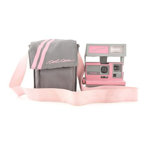 POLAROID 600 - Cool Cam Pink & Grey with Soft Case
