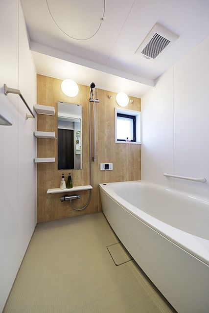 施工事例 浴室 お風呂 有機ガラス系人造大理石 スゴピカ浴槽 で