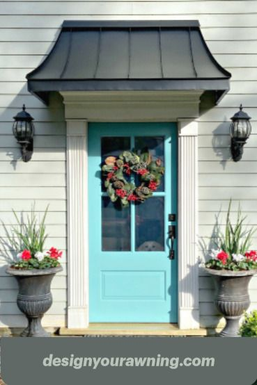 Juliet Style Awning In 2020 Metal Door Awning Door Awnings Awning Over Door