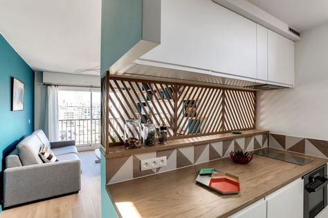 Plans pour aménager et décorer un appartement de 30m2 Small - m bel f r kleine k chen