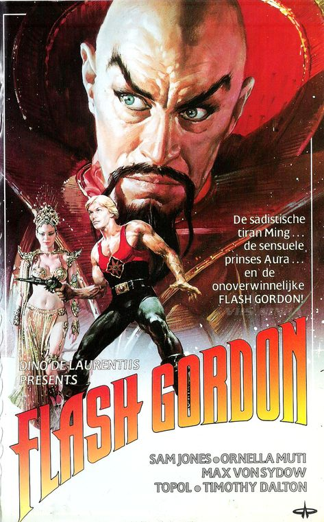 Art Poster of Flash Gordon film. Old Movie Posters, Classic Movie Posters, Cinema Posters, Movie Poster Art, Poster S, Classic Films, Sf Movies, Cinema Movies, Cult Movies