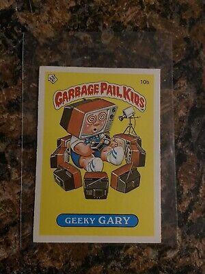 Ebay Sponsored Garbage Pail Kids Geeky Gary 10b Gpk Series 1 1985 Excellent Nm In 2020 Garbage Pail Kids Cereal Pops Geeky
