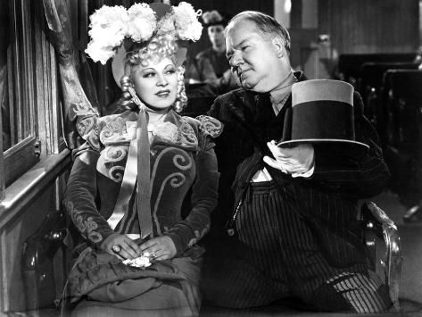 Photo Print: My Little Chickadee, Mae West, W.C. Fields, 1940, 24x18in