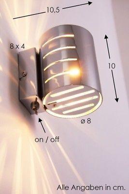 Details Zu Wandleuchte Design Wandstrahler Chrom Flurlampe Leuchte Wandlampe Lampe Schalter Luminarias Modernas Iluminacao Decorativa Luminaria De Cano Pvc